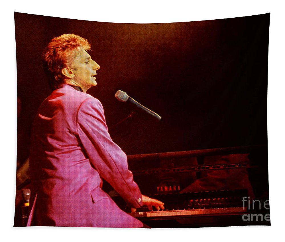 Barry Manilow Tapestry featuring the photograph Barry Manilow-0800 by Gary Gingrich Galleries