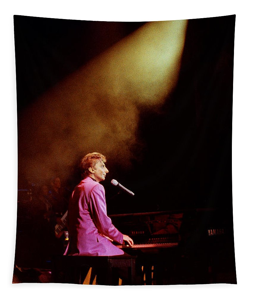 Barry Manilow Tapestry featuring the photograph Barry Manilow-0803 by Gary Gingrich Galleries