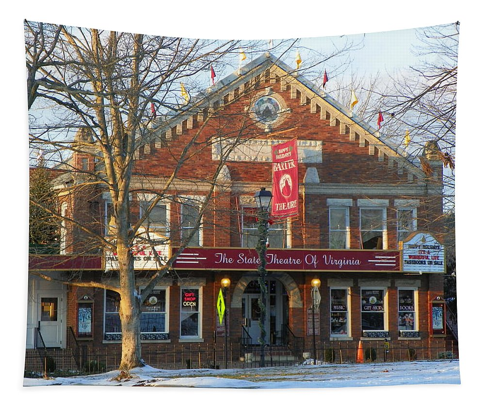 Barter Theatre Tapestry featuring the photograph Barter Theatre by Karen Wiles