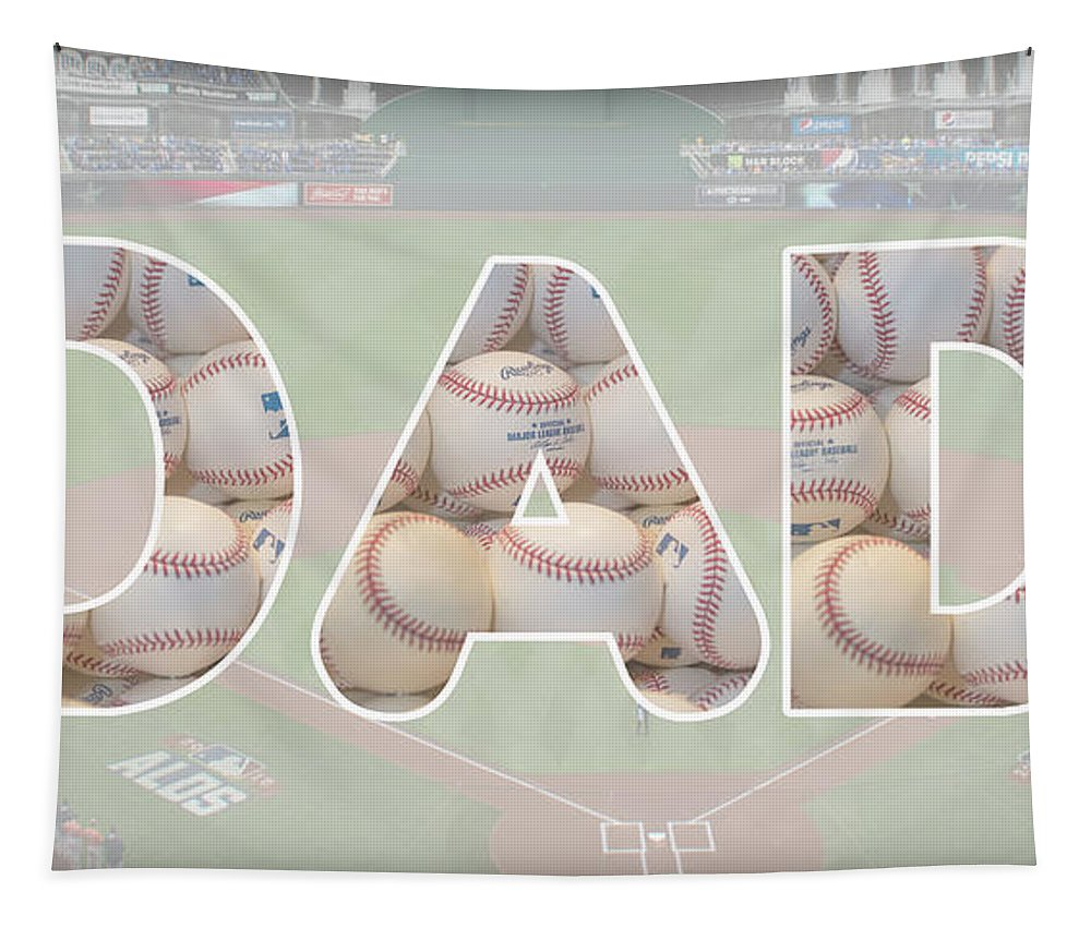 Fathers Tapestry featuring the photograph Baseball Dad by Pamela Williams