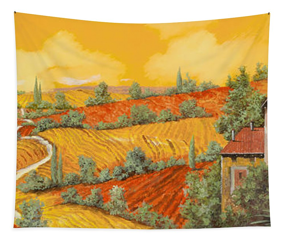 Tuscany Tapestry featuring the painting Maremma Toscana by Guido Borelli