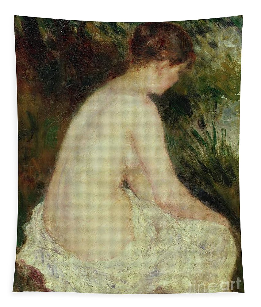Bather Tapestry featuring the painting Bather by Pierre Auguste Renoir