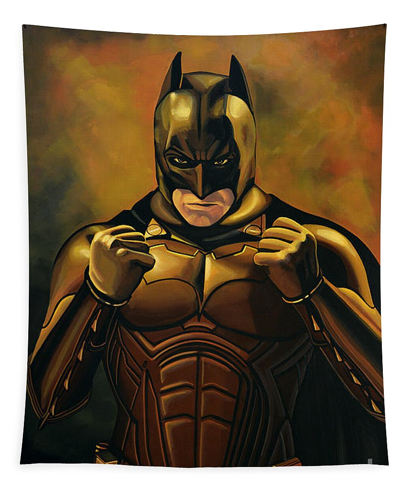Batman Tapestry featuring the painting Batman The Dark Knight by Paul Meijering