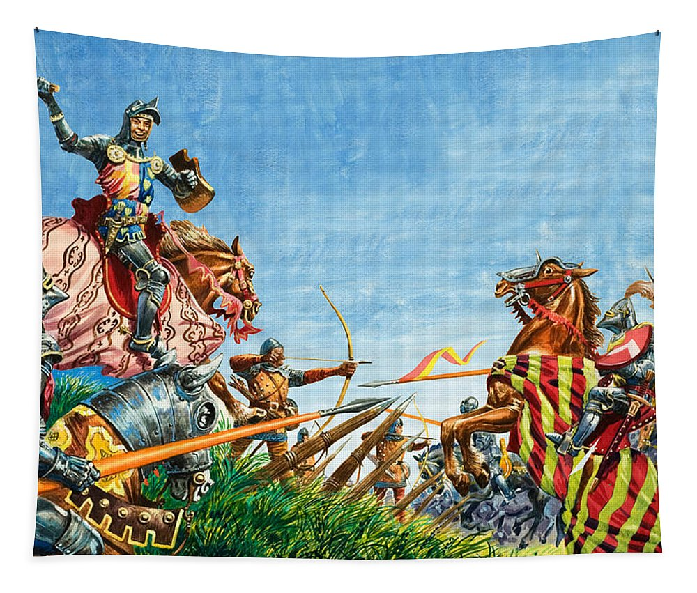Battle Of Agincourt Tapestry featuring the painting Battle Of Agincourt by Peter Jackson