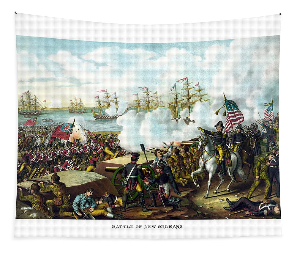 Andrew Jackson Tapestry featuring the painting Battle Of New Orleans by War Is Hell Store