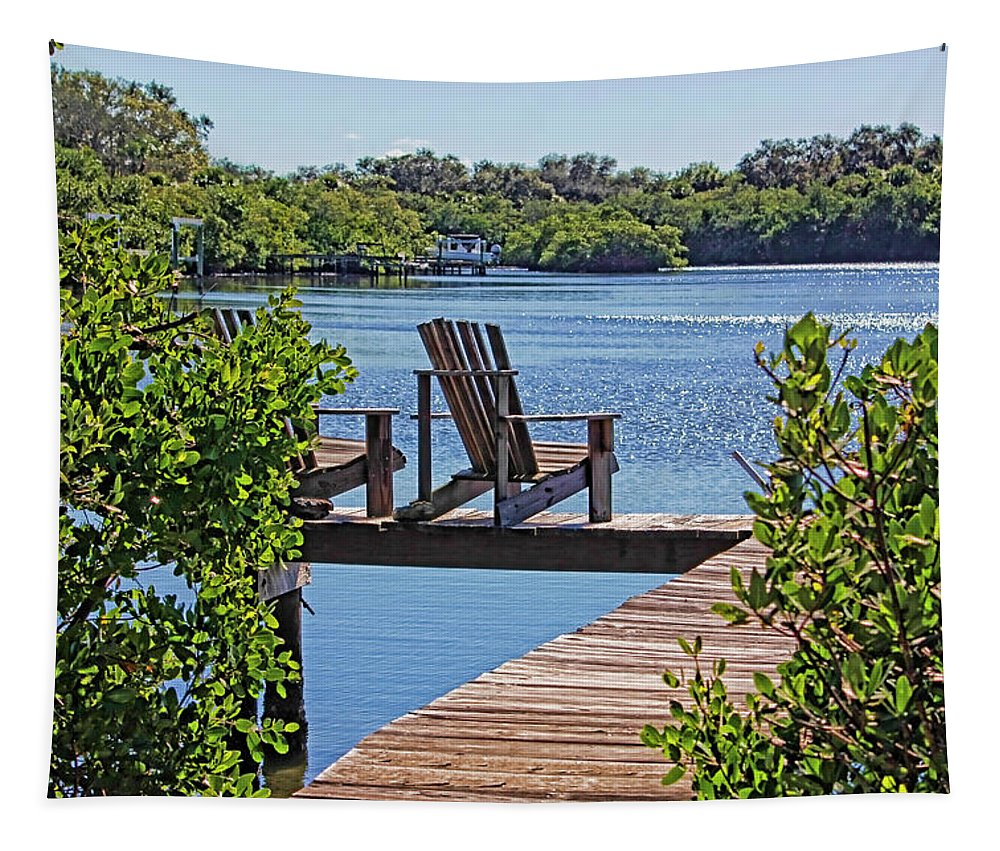 Florida Waterscape Tapestry featuring the photograph Bayside Respite by HH Photography of Florida