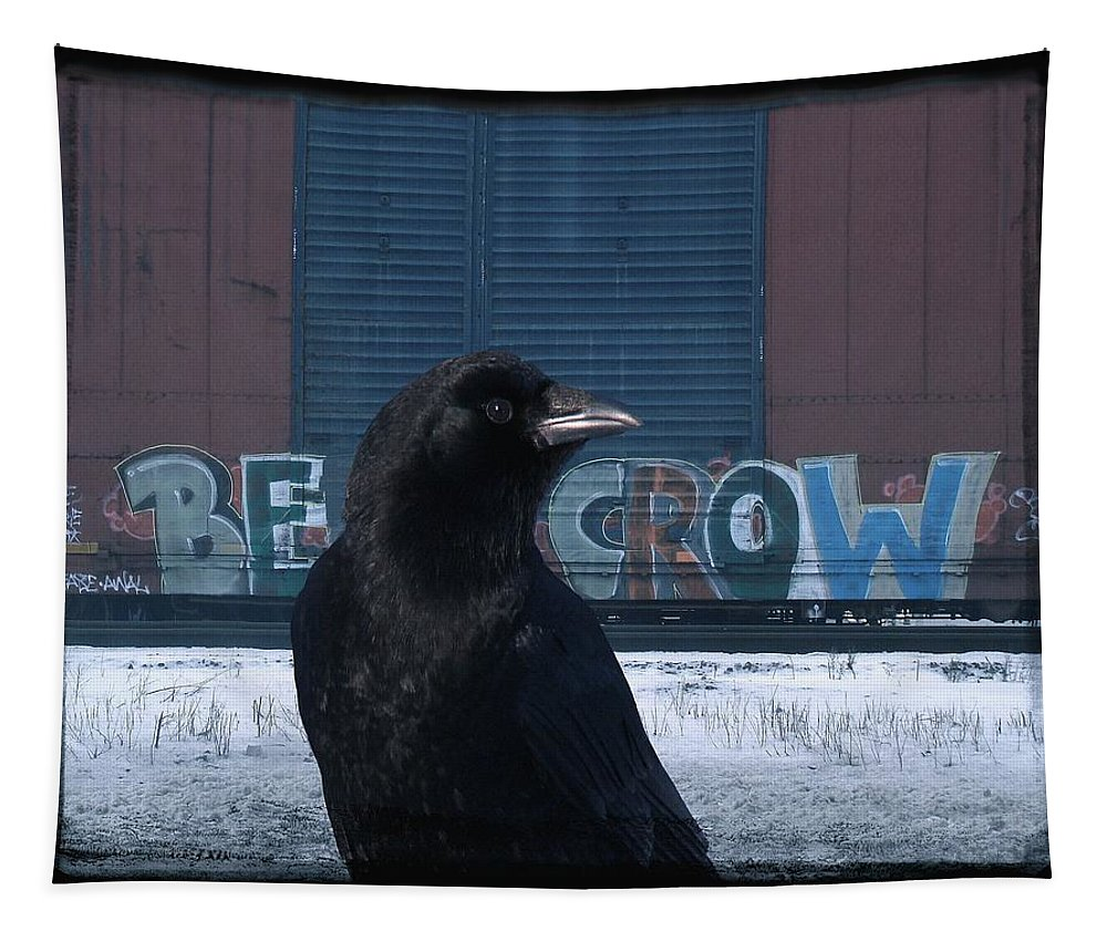 Crow Art Tapestry featuring the photograph Be Crow by Gothicrow Images