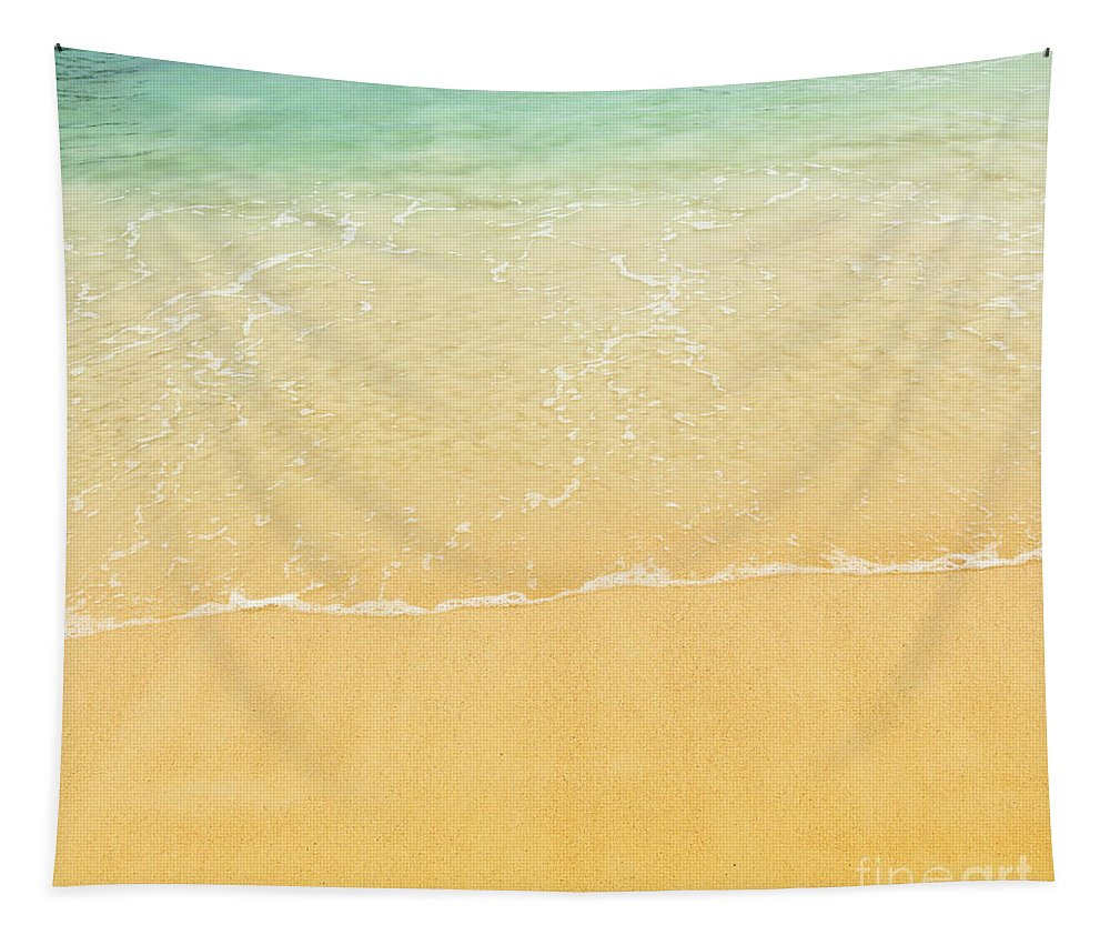 Beach Tapestry featuring the photograph Beach Background by Tim Hester