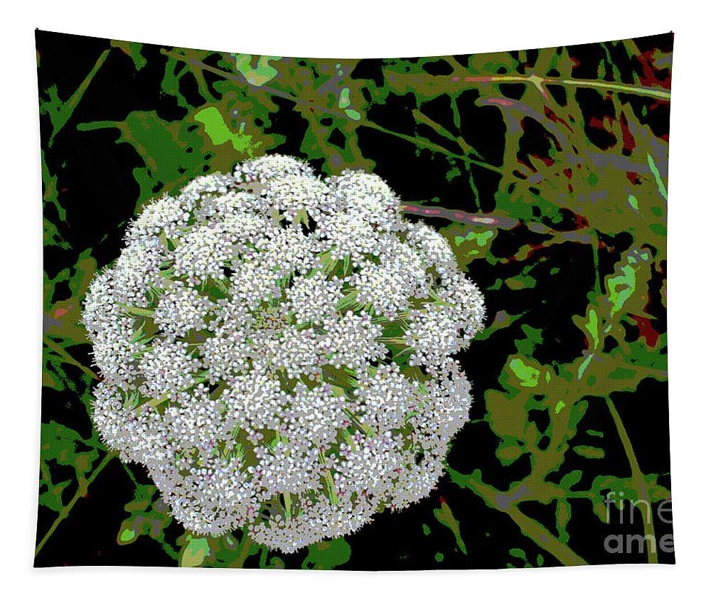 Wild Tapestry featuring the digital art Beach Bloom by Eddie Barron