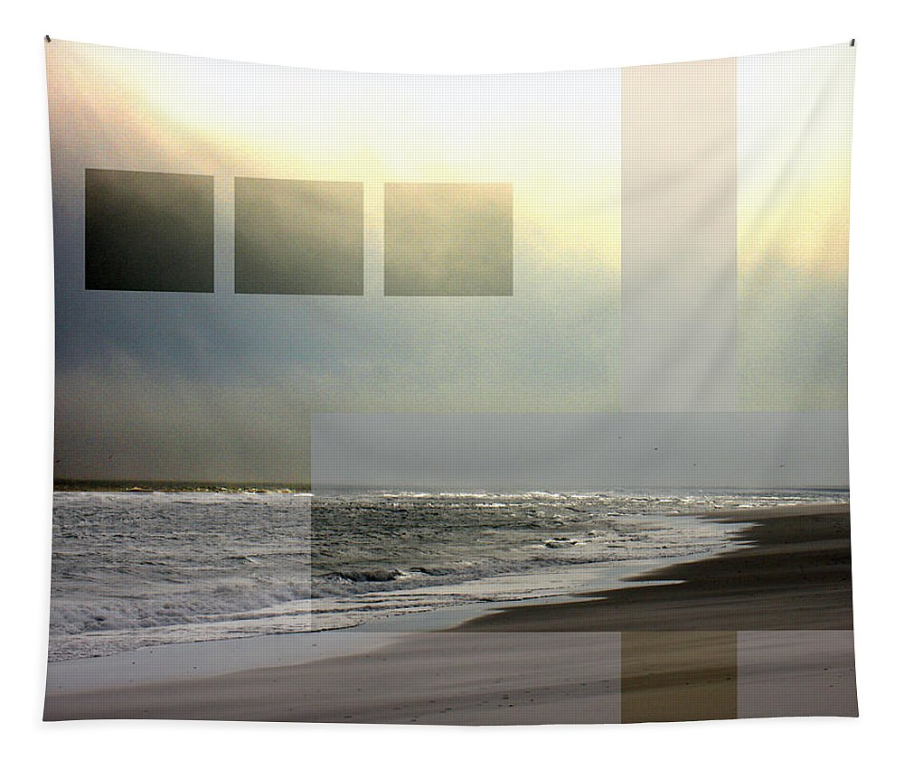 Beach Tapestry featuring the photograph Beach Collage 2 by Steve Karol
