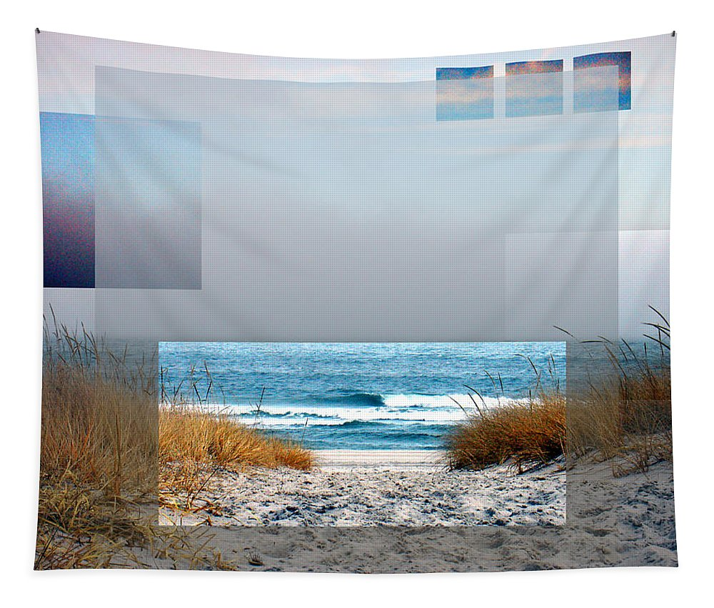 Beach Tapestry featuring the photograph Beach Collage by Steve Karol