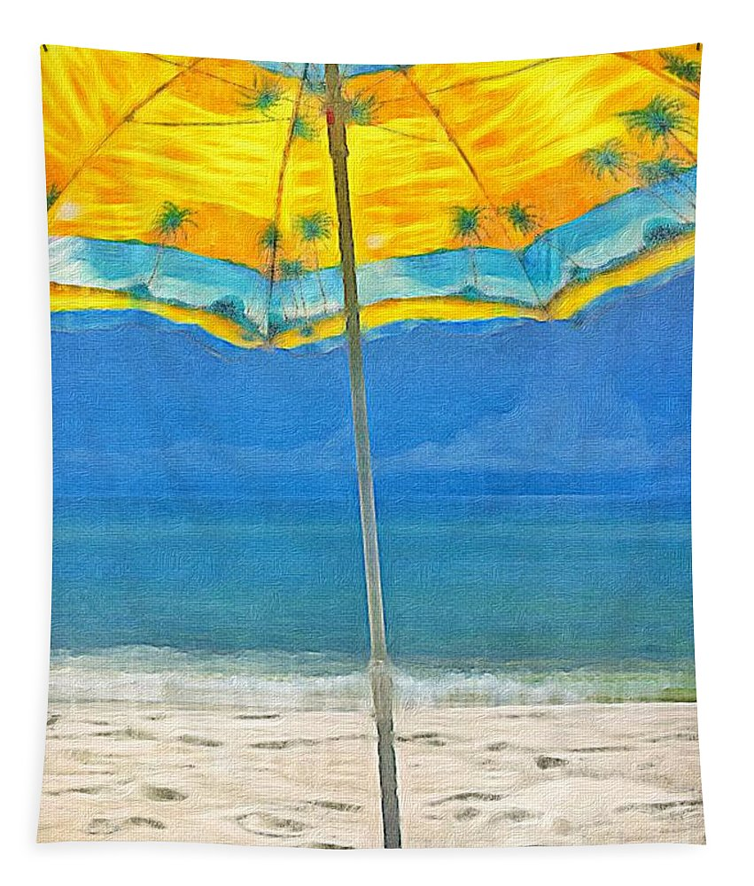 Beach Tapestry featuring the photograph Beach Day by Paul Wilford