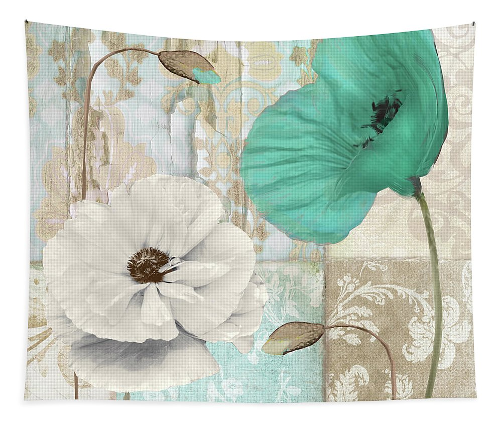 Poppy Tapestry featuring the painting Beach Poppies Iv by Mindy Sommers
