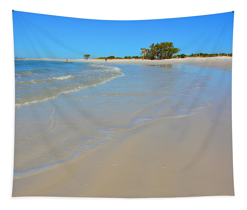 Beach Scene 3 Tapestry featuring the photograph Beach Scene 3 by Lisa Wooten