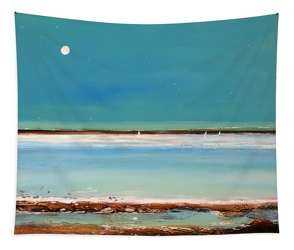 Minimalist Art Tapestry featuring the painting Beach Textures by Toni Grote