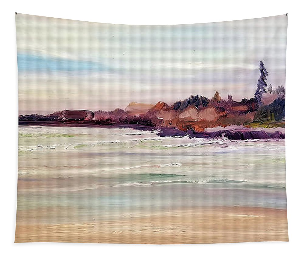 Beach Tapestry featuring the painting Beach Warmth by Susan E Hanna