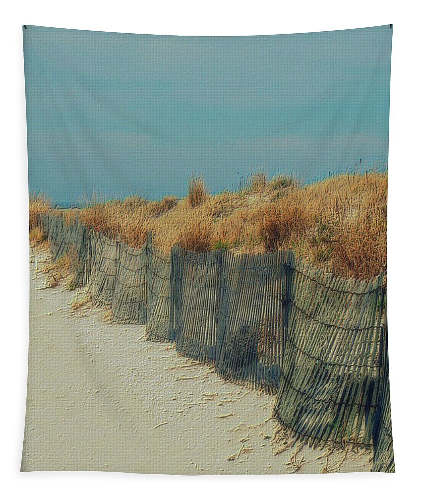 Beac Tapestry featuring the photograph Beachside by Linda Sannuti