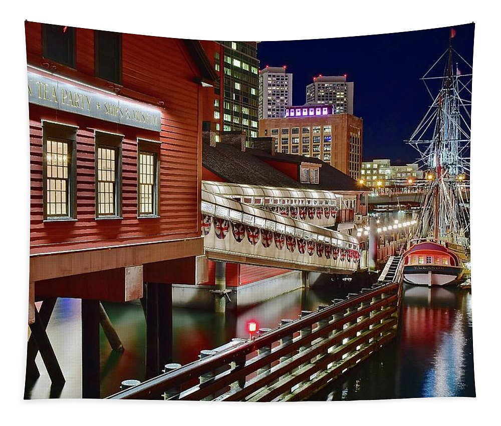 Boston Tapestry featuring the photograph Bean Town Museum by Frozen in Time Fine Art Photography