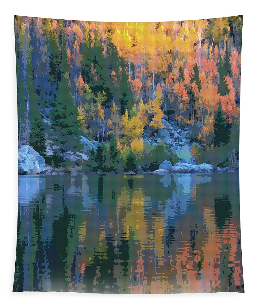 Bear Lake Colorado Poster Tapestry featuring the digital art Bear Lake Colorado Poster by Dan Sproul