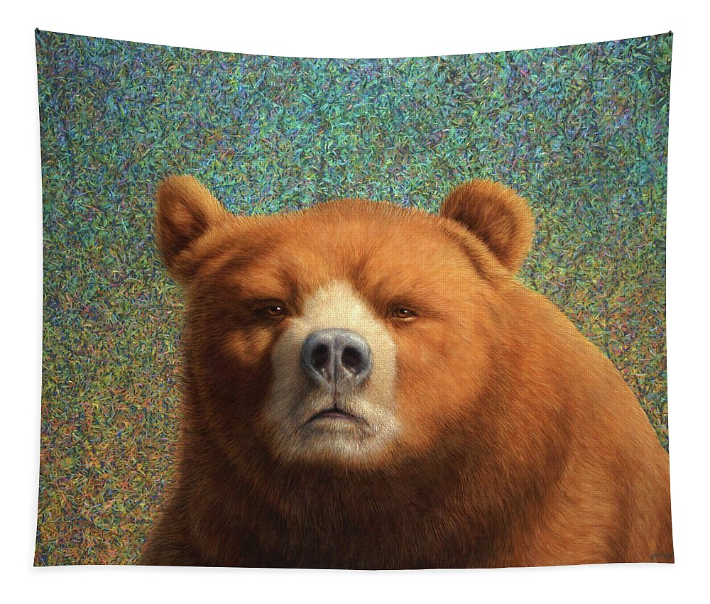 Bear Tapestry featuring the painting Bearish by James W Johnson