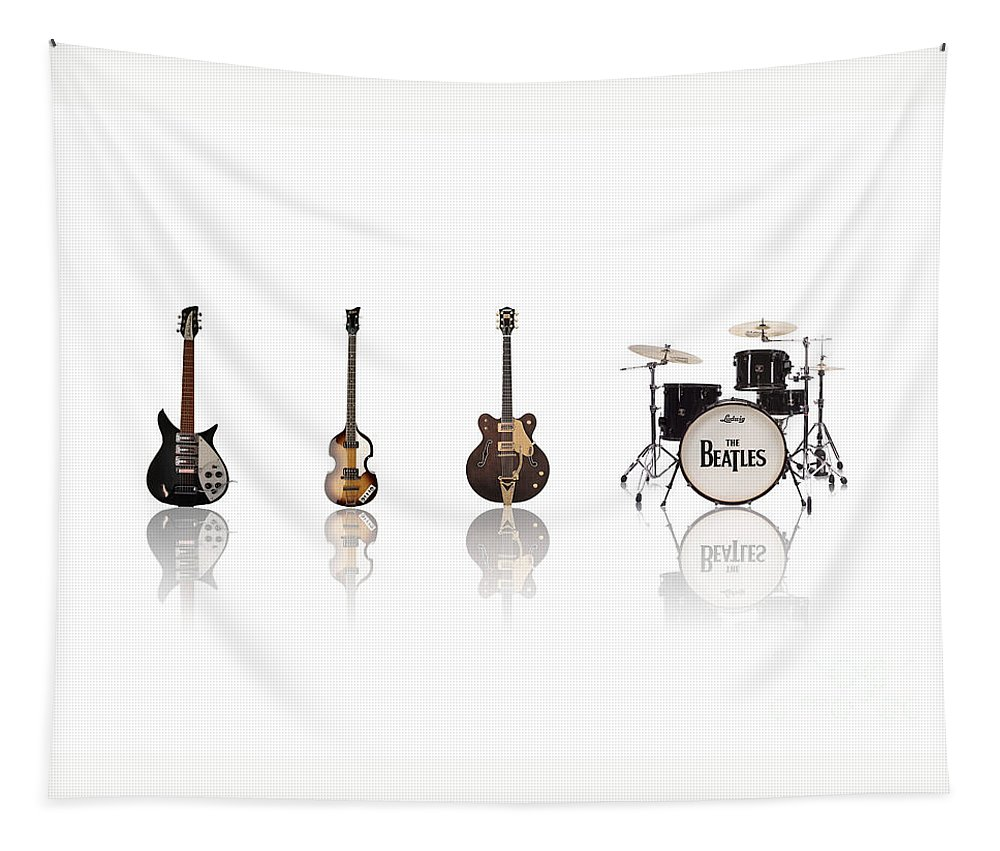 The Beatles Tapestry featuring the digital art Beat of Beatles by Deer Devil Designs
