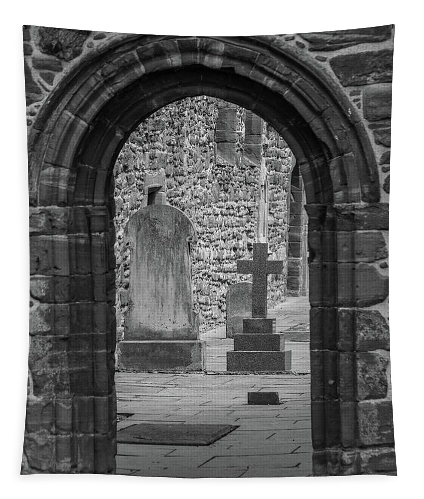 Scotland Tapestry featuring the photograph Beauly Priory Arch by Teresa Wilson