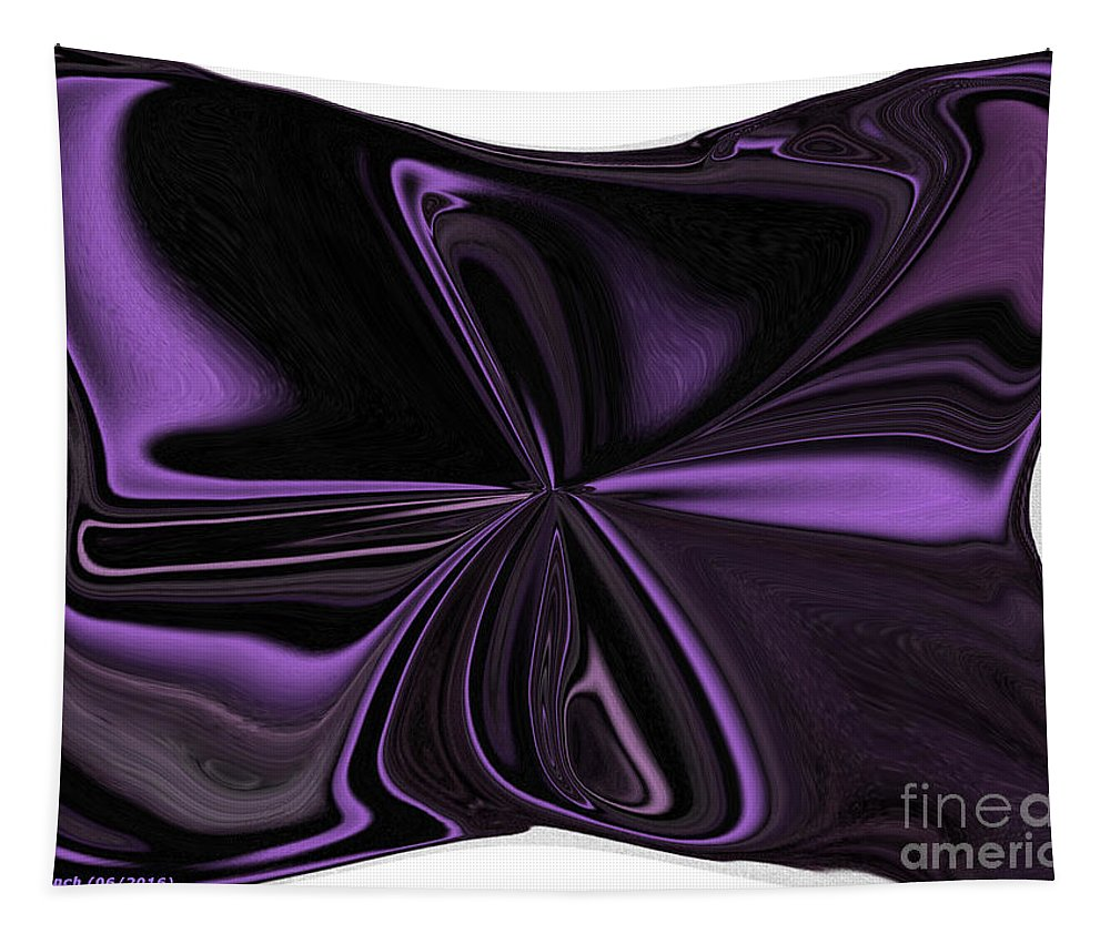 Purple Tapestry featuring the digital art Beautiful Abstract Throw Pillow by Debra Lynch