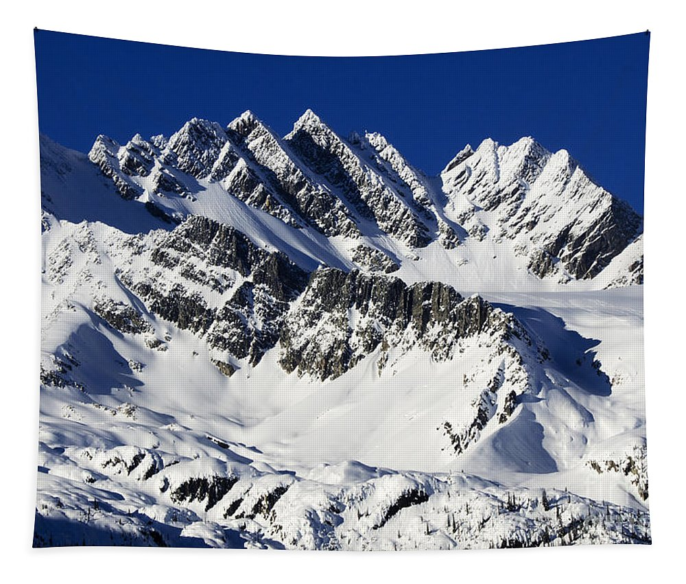 Glacier Tapestry featuring the photograph Beautiful Canada 13 by Bob Christopher