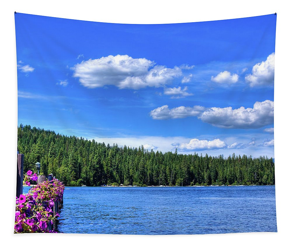 Beautiful Luby Bay On Priest Lake Tapestry featuring the photograph Beautiful Luby Bay On Priest Lake by David Patterson