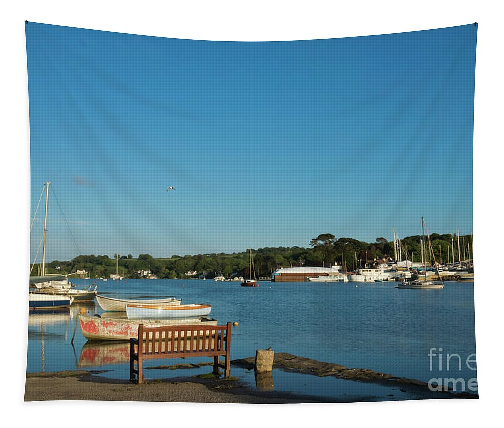 Mylor Creek Tapestry featuring the photograph Beautiful Mylor Bridge by Terri Waters