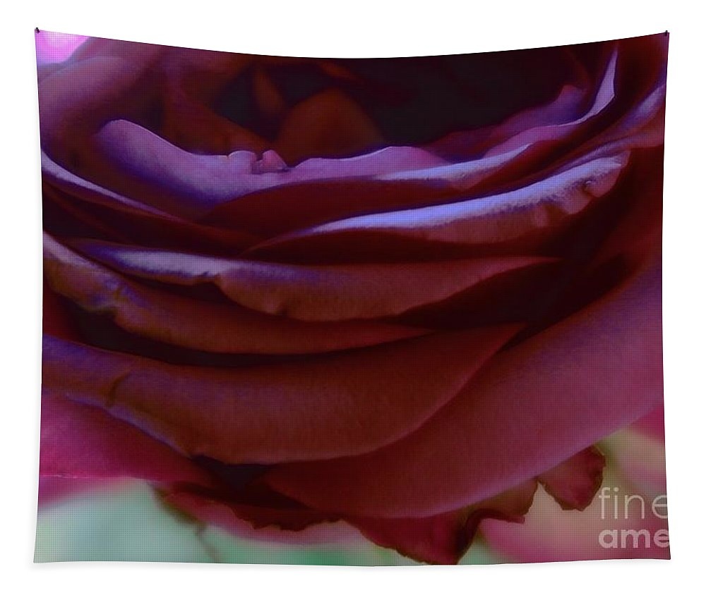 Floral Tapestry featuring the photograph Beautiful Purple Rose Macro 2 by Tara Shalton