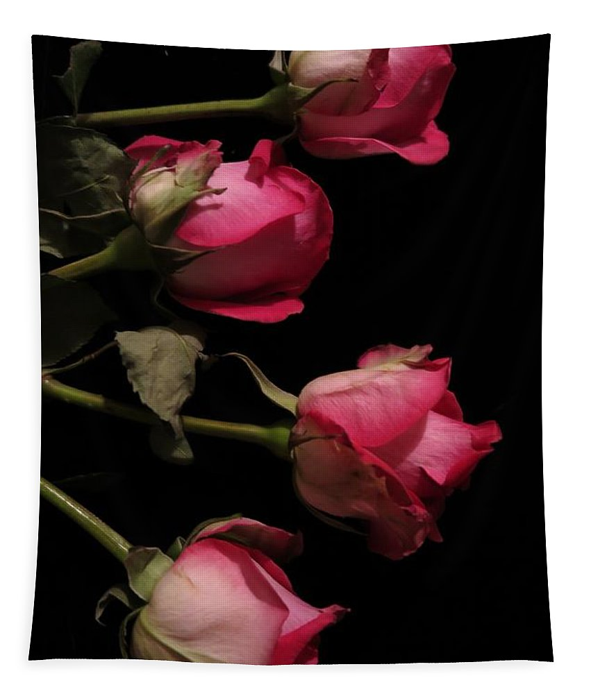 Floral Tapestry featuring the photograph Beautiful Two Tone Roses 4 by Tara Shalton