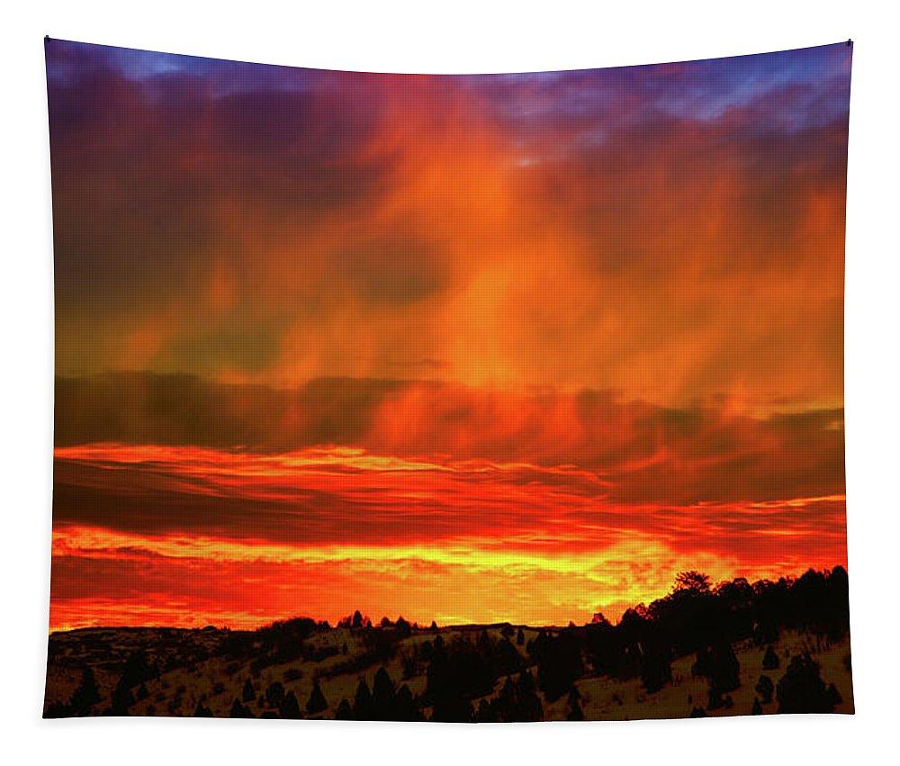 Utah Tapestry featuring the photograph Beautiful Utah Sunset by Patrick Hendry
