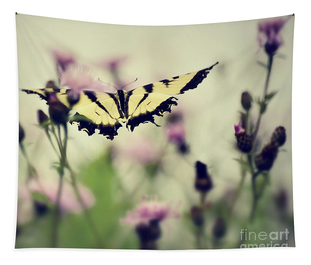 Butterfly Tapestry featuring the photograph Beauty And Grace by Kerri Farley