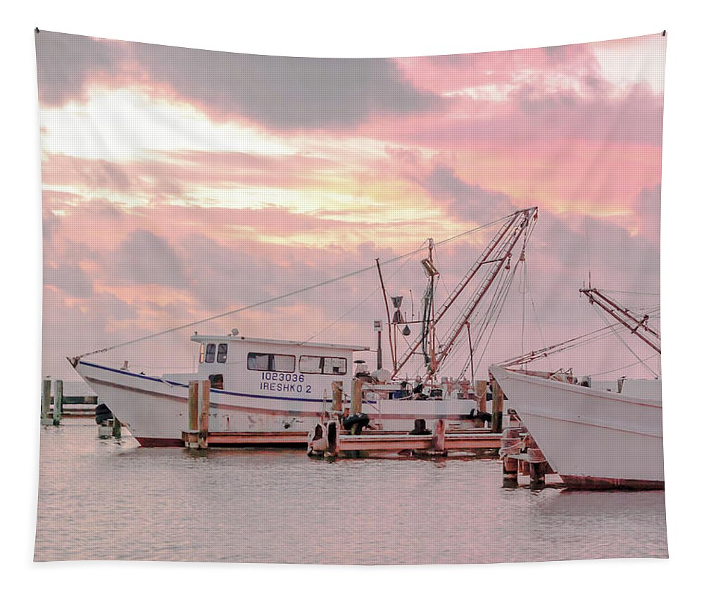 Boat Tapestry featuring the photograph Beauty At The Marina by Leticia Latocki