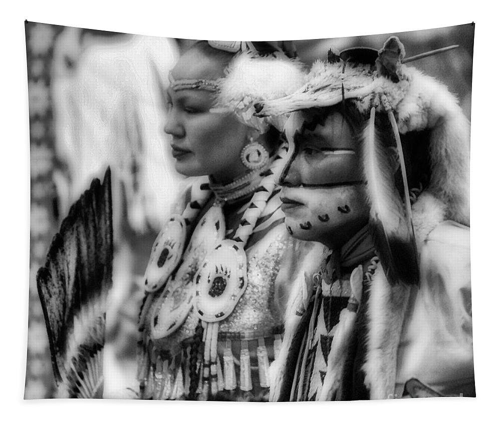 Beauty Tapestry featuring the photograph Pow Wow Beauty Of The Past by Bob Christopher