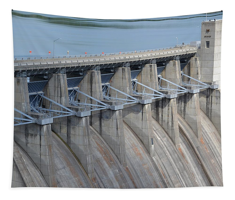 Beaver Dam Tapestry featuring the photograph Beaver Dam Spillway Gates by James Pinkerton