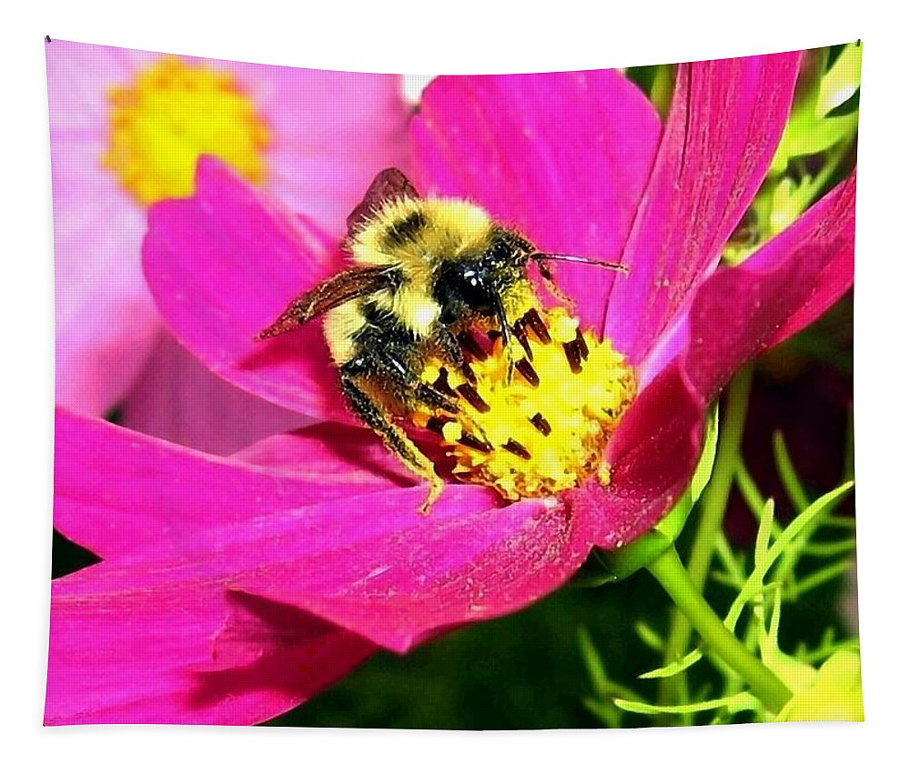 Bee Tapestry featuring the photograph Bee-line 3 by Will Borden