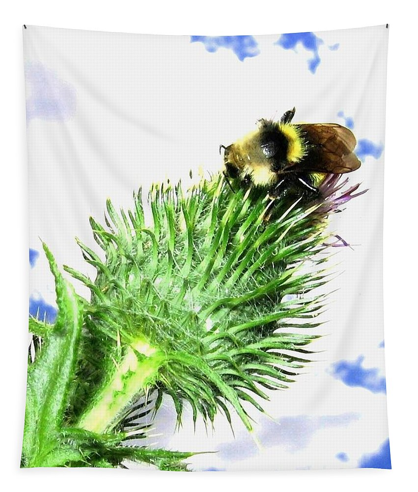Bee Tapestry featuring the photograph Bee-line 4 by Will Borden