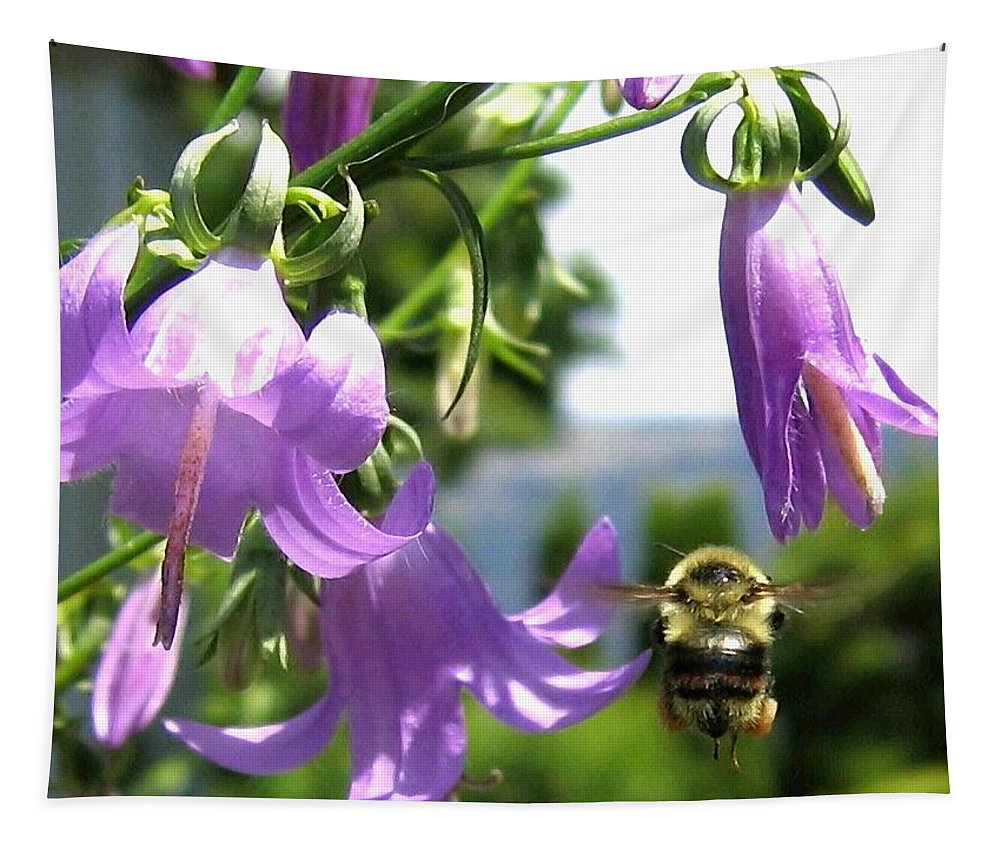 Bee Tapestry featuring the photograph Bee-line 5 by Will Borden