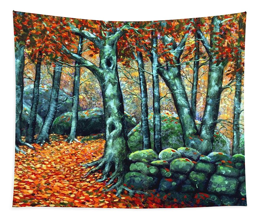 Landscape Tapestry featuring the painting Beech Woods by Frank Wilson