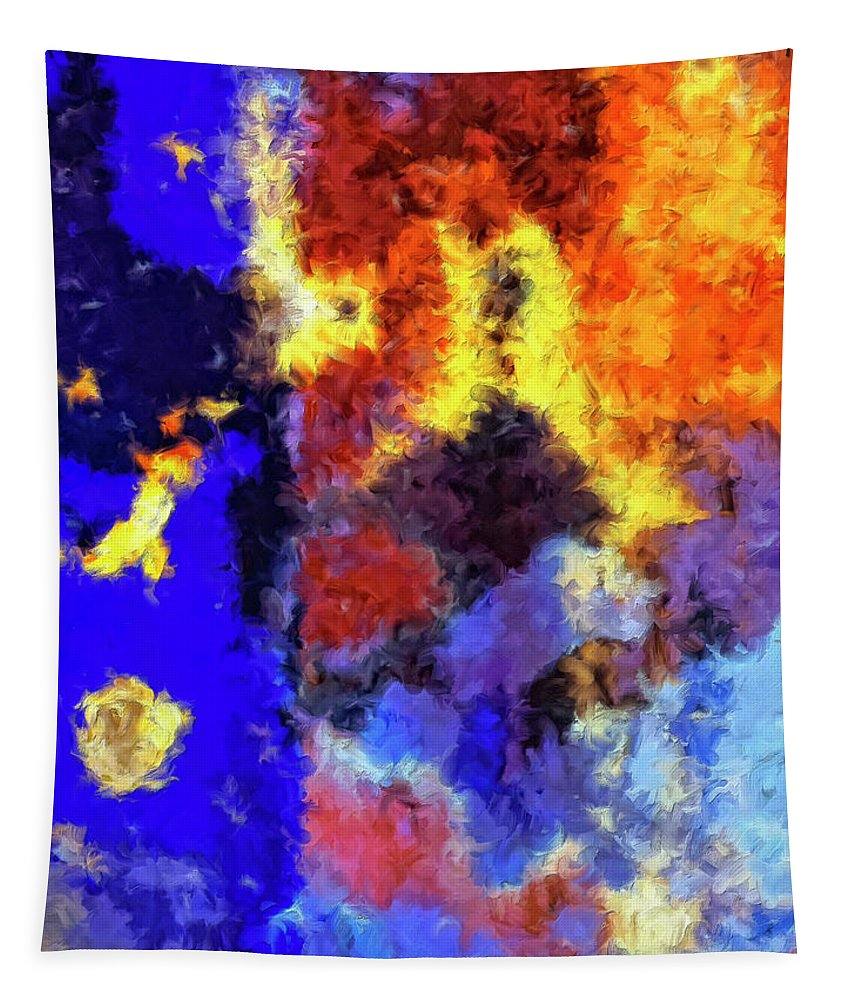 Abstract Tapestry featuring the painting Behind The Curtain 1 by Dominic Piperata