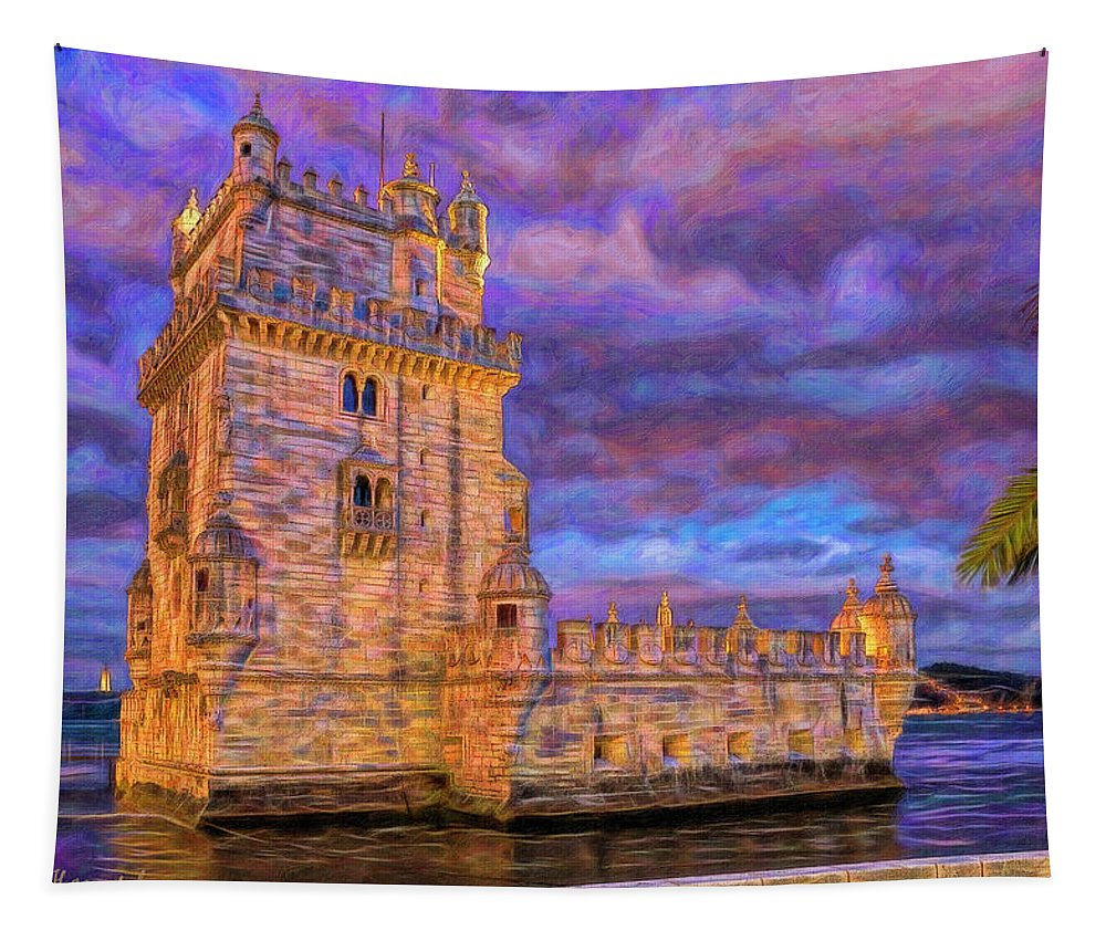 Portugal; Lisbon; Belem Tapestry featuring the photograph Belem At Disk by Mikehoward Photography