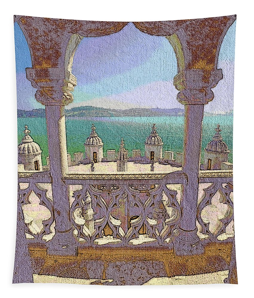 Portugal Tapestry featuring the photograph Belem Tower by Mikehoward Photography