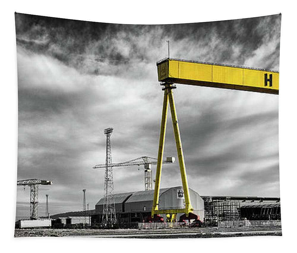 Belfast Tapestry featuring the photograph Belfast Shipyard 2 by Nigel R Bell