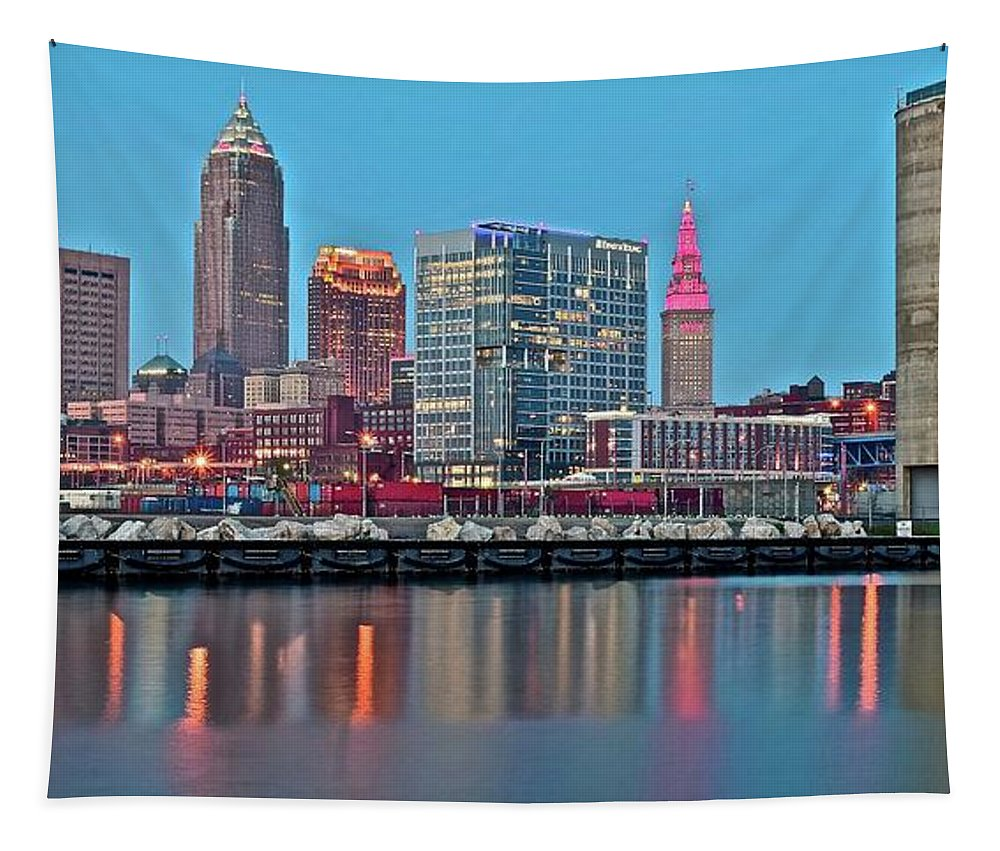 Cleveland Tapestry featuring the photograph Believe-land by Frozen in Time Fine Art Photography