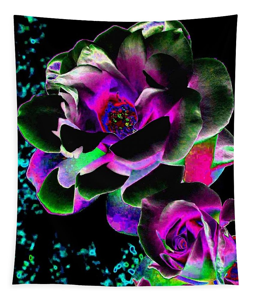 Bella Flora Tapestry featuring the digital art Bella Flora 8 by Will Borden
