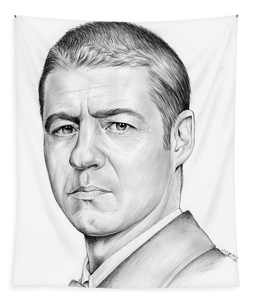 Actor Tapestry featuring the drawing Ben Mckenzie by Greg Joens