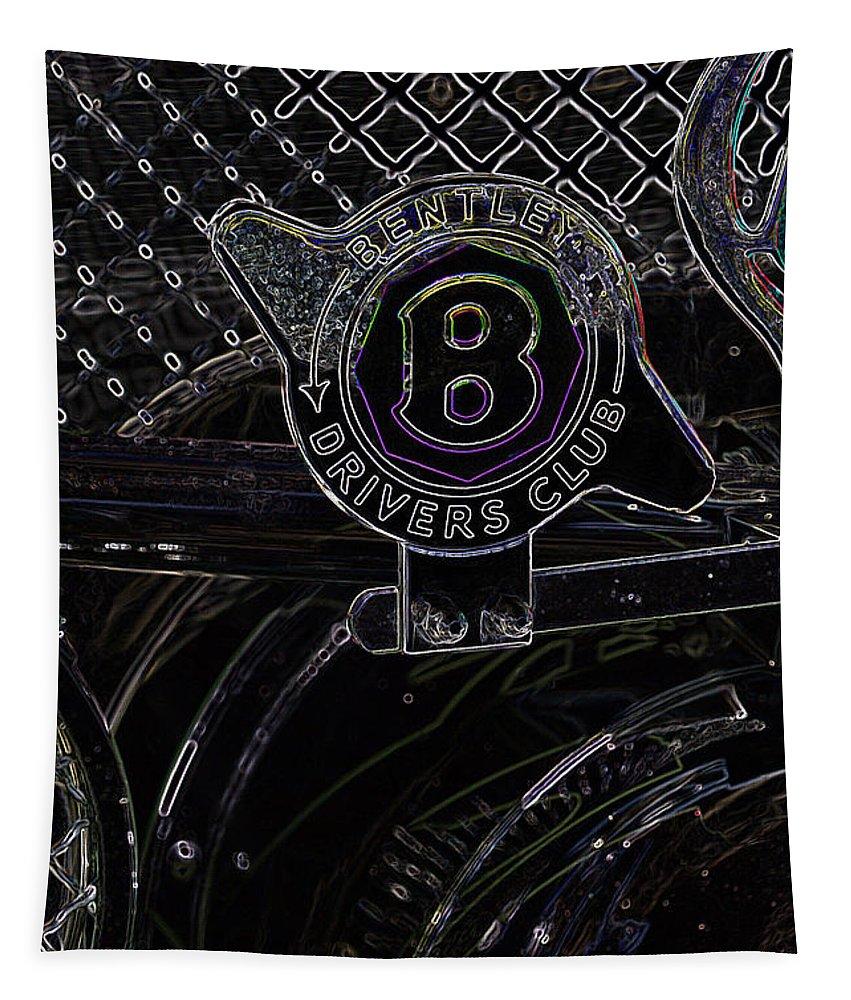 Bentley Tapestry featuring the digital art Bentley 1 by Wendy Wilton