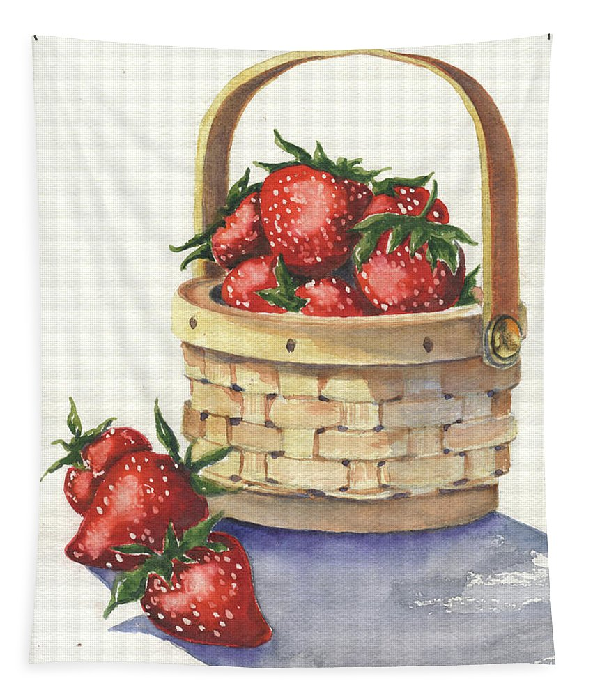 Berry Tapestry featuring the painting Berry Nice by Marsha Elliott